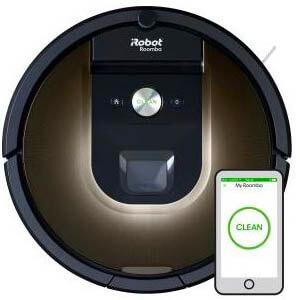 Kolejny z cichych odkurzaczy to iRobot Roomba 980