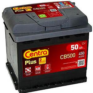 Akumulator do samochodu Centra CB500 (50Ah 450A) Plus (P+)