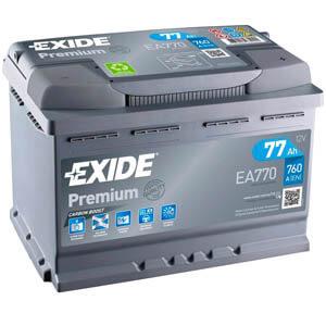 Akumulator do samochodu Exide Ea770 (77Ah 760A) Premium (P+)