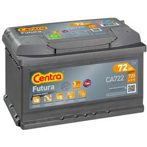 Akumulator samochodowy Centra CA722 (72Ah 720A) Futura (P+)