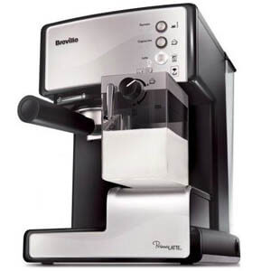 Ekspres kolbowy Breville Prima Latte VCF045X to drugi polecany ekspres na kolbę
