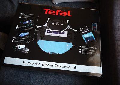 Pudełko robota sprzątającego Tefal X-Plorer Serie 95