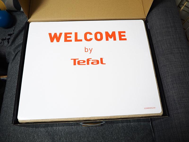 Informacja powitalna dołączona do odkurzacza Tefal X-Plorer Serie 95